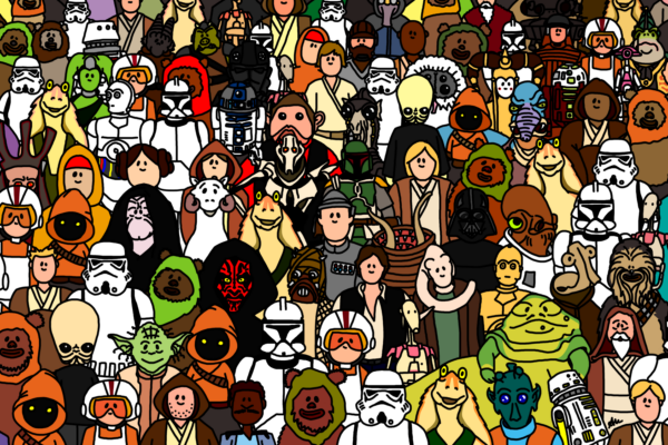 star wars crowd
