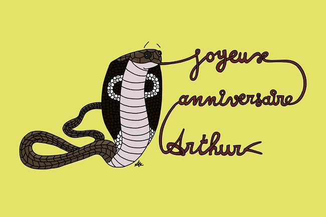 Joyeux Anniversaire Arthur !!!