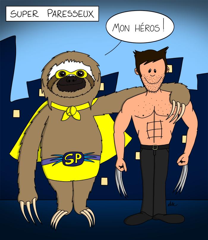Super paresseux et Wolverine