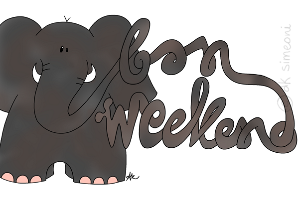 l'éléphant du weekend