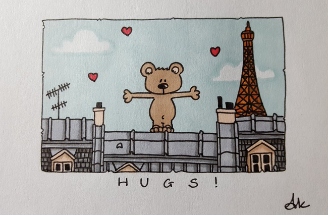Hugs from Paris