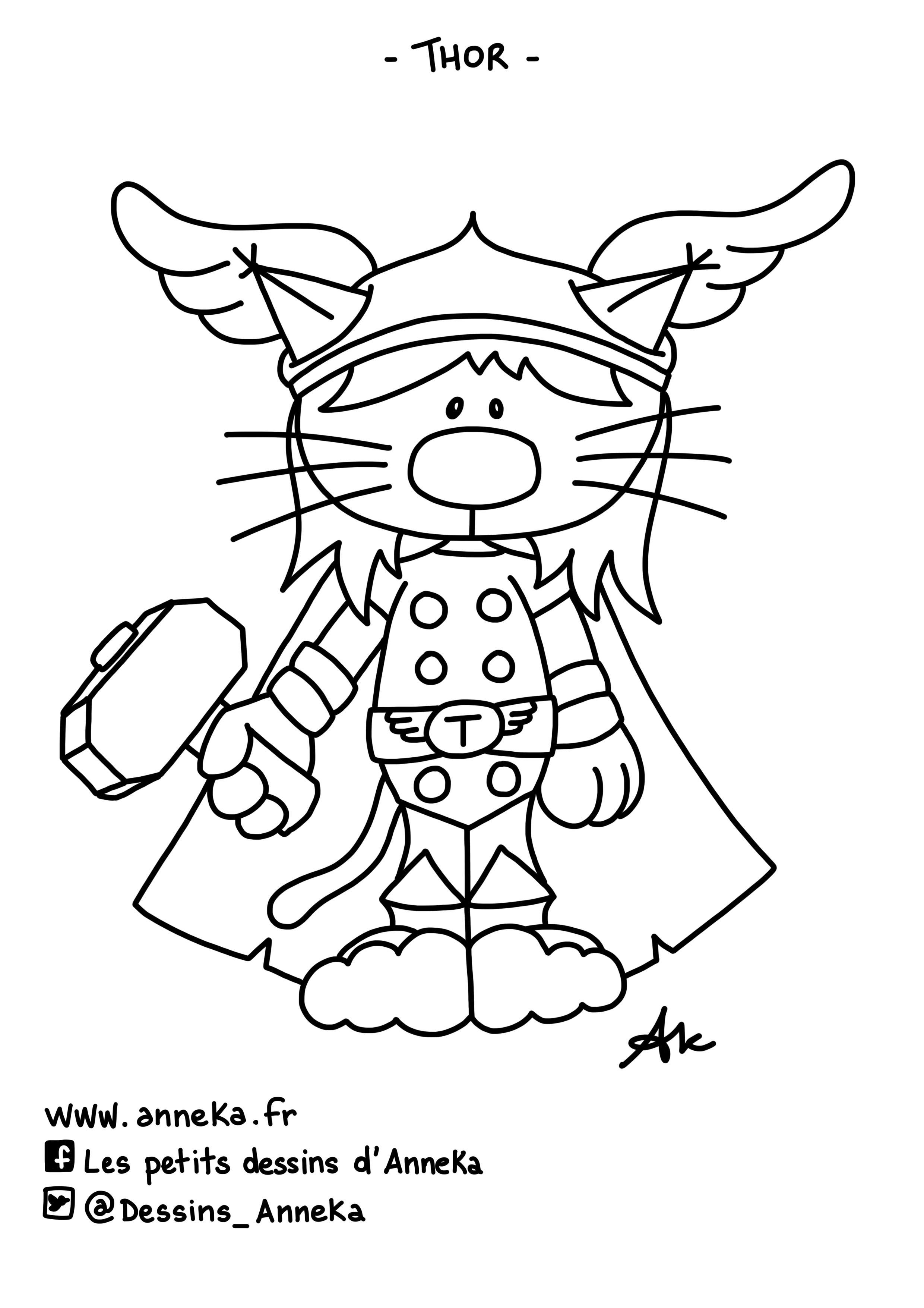 Les petits dessins d 39 anneka coloring thor coloriage thor - Dessin de thor ...